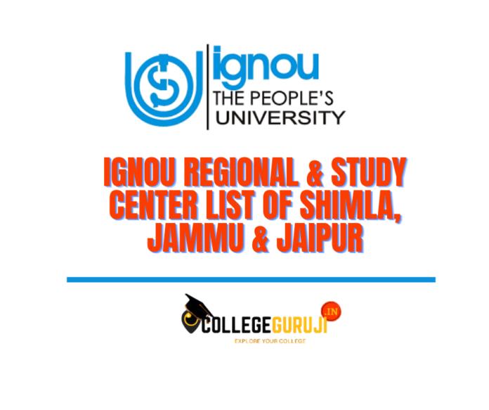 ignou jammu shimla jaipur study center