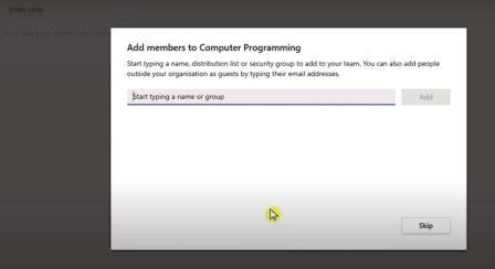 add members window