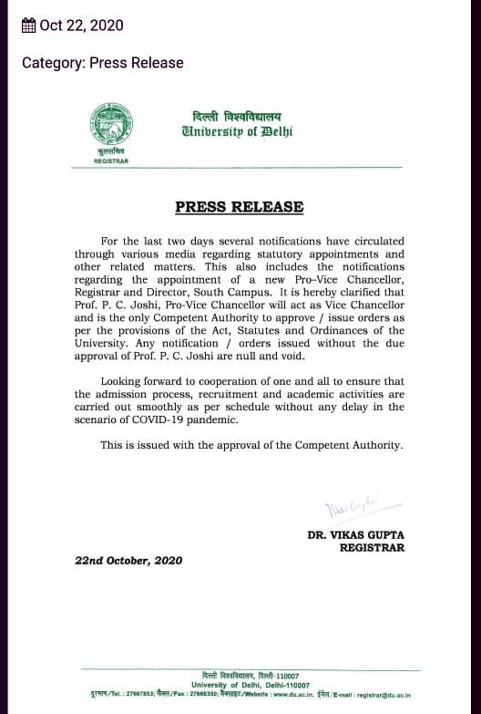 DU PRESS RELEASE 22 OCTOBER 2020 FOR PRO-VC AND VC