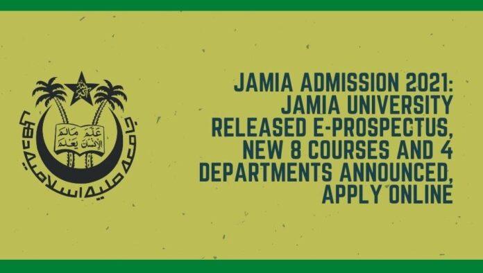 Jamia admission 2021