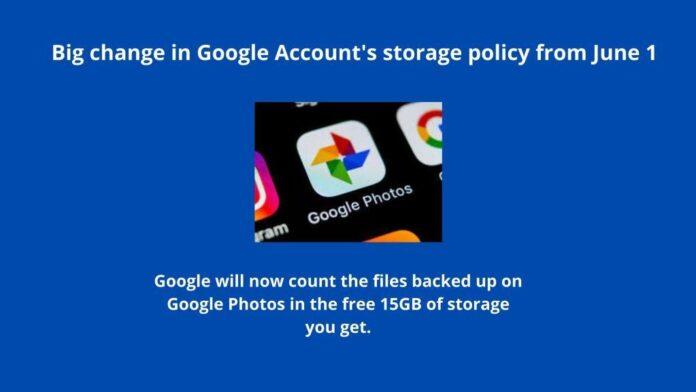 Goolge Photo Policy 1 June