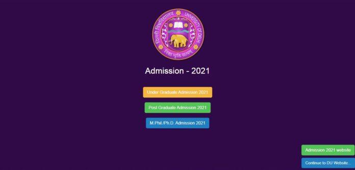 DU UG PG MPHIL ADMISSION 2021