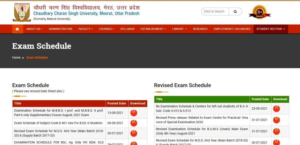 CCSU Special Back Exam