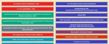 calcutta university entrance exam 2021