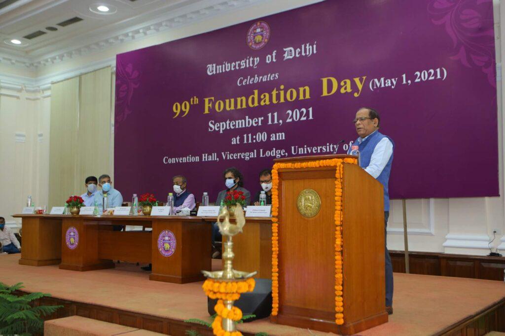DU Foundation Day 2021 VC Prof. PC Joshi